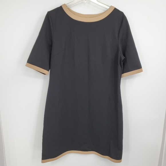JUDE CONNALLY black with creme dress